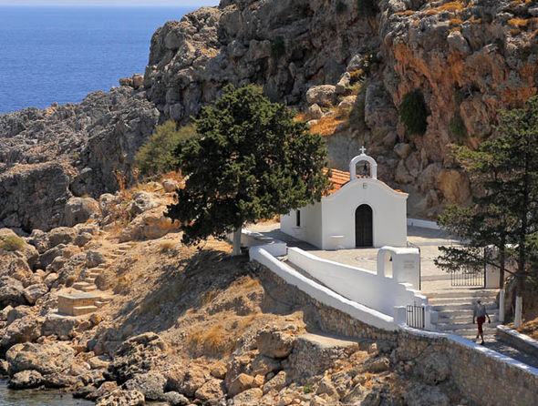 St Pauls church in Lindos Greece
