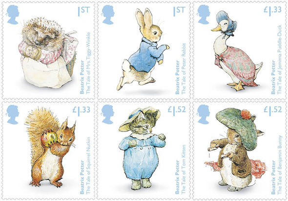 Beatrix Potter Commemorative Stamp Set Goes On Sale