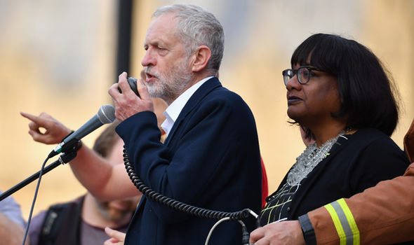 Diane Abbott with Jeremy Corbyn