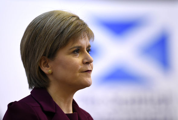 Ms Sturgeon is in a stand-off with Theresa May over the referendum