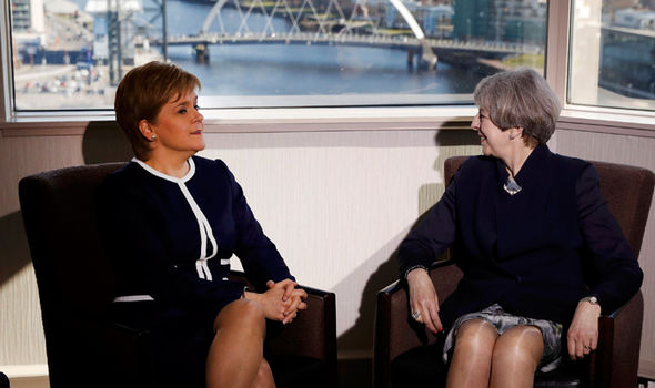 Sturgeon and Theresa May