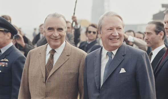Ted Heath with Georges Pompidou