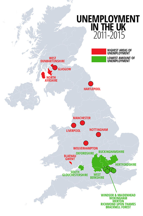 Liverpool is UKs most UNEMPLOYED area  as south stays