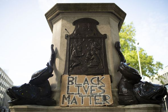 The statue was removed during the Black Lives Matter protests