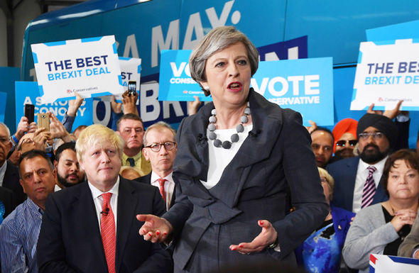 Theresa May Boris Johnson Philip campaign