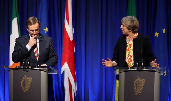 Theresa May and Enda Kenny