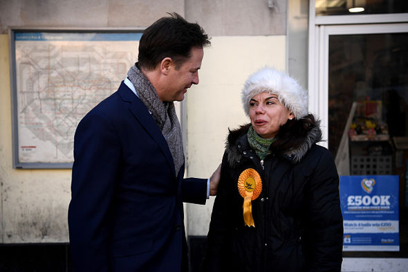 Clegg went out on the campaign trail again last year