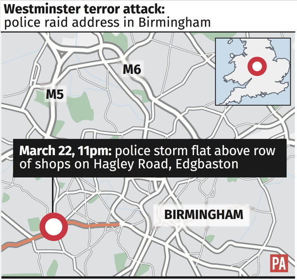 Police have launched raids in Birmingham