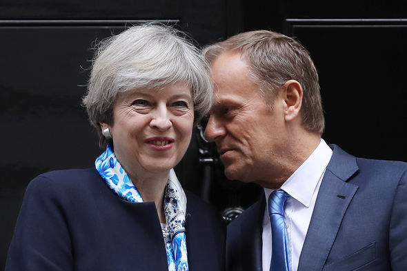 Theresa May could find a backlash from pensioners here pictured with Donald Tusk