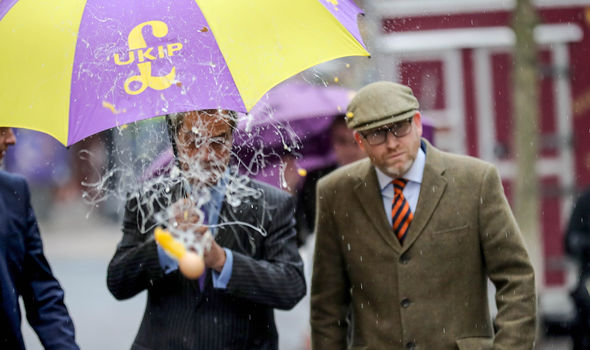 Nigel Farage and Paul Nuttall were attacked in the street in the ugly campaign