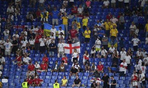 Ukraine: England fans pictured in Rome last week
