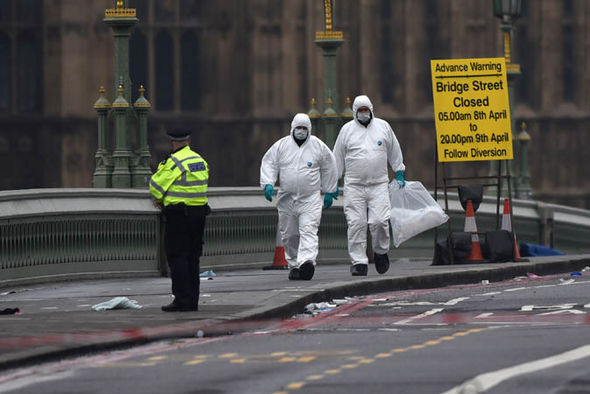 People on Westminster bridge