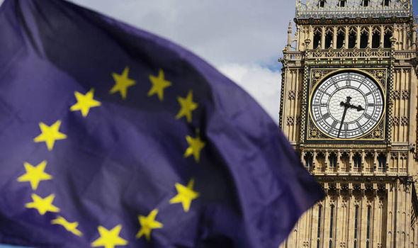 EU flag at Westminster