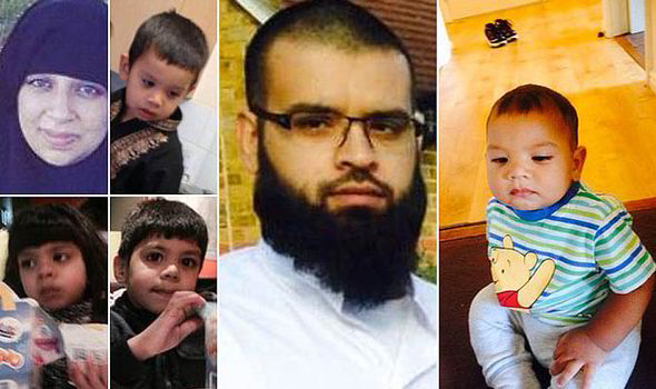 Asif Malik, Sara Kiran and their four children