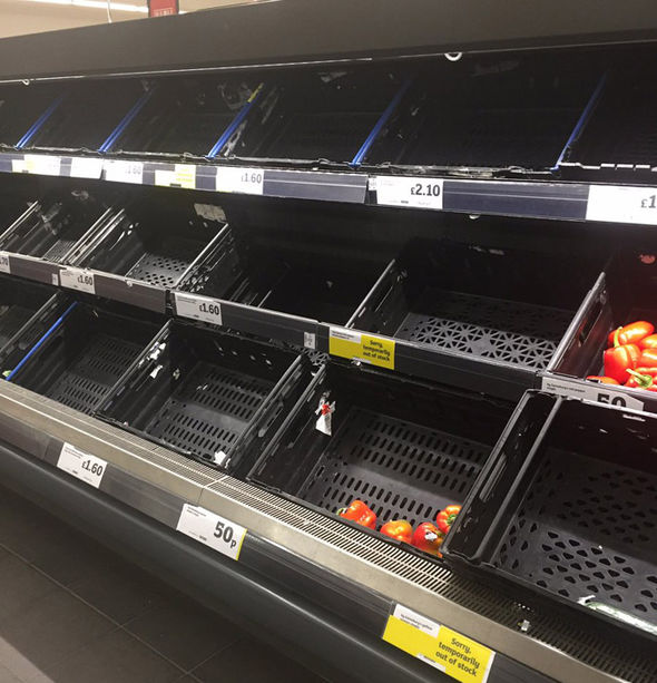 vegetable shortage