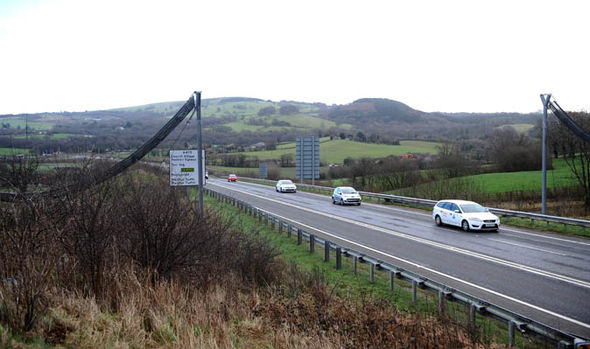 Road with bridge