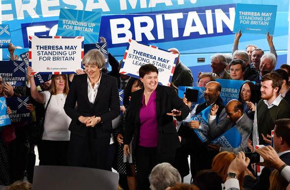 Theresa May and Ruth Davidson