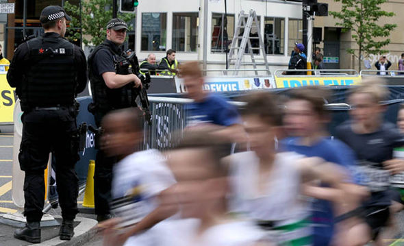 Children running in the marathon