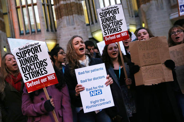 Junior doctors' protest