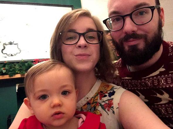 Frampton family with their little girl