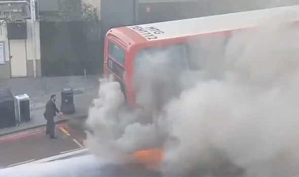 London bus fire