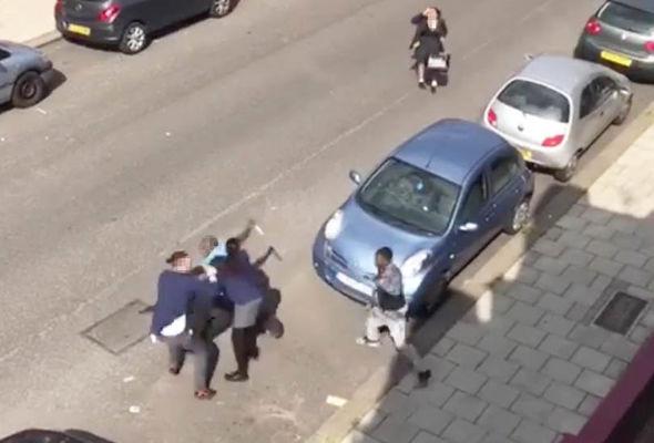Still from the Streatham stabbing video
