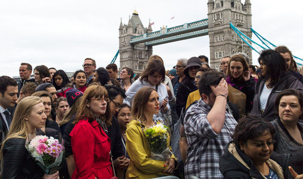 london terror attack vigil bridge