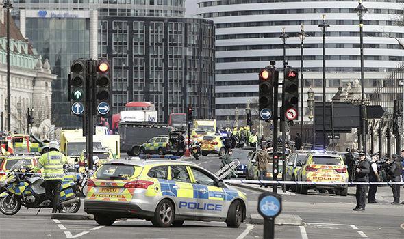 London terror attack scene