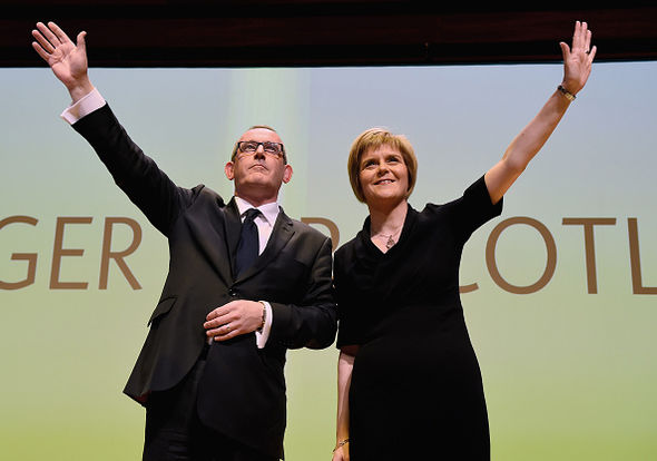 Nicola Sturgeon with disgraced deputy leader Stewart Hosie