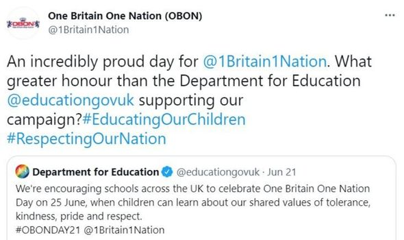 one britain one nation day twitter