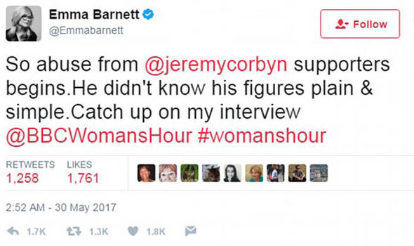 Emma Barnett's tweet
