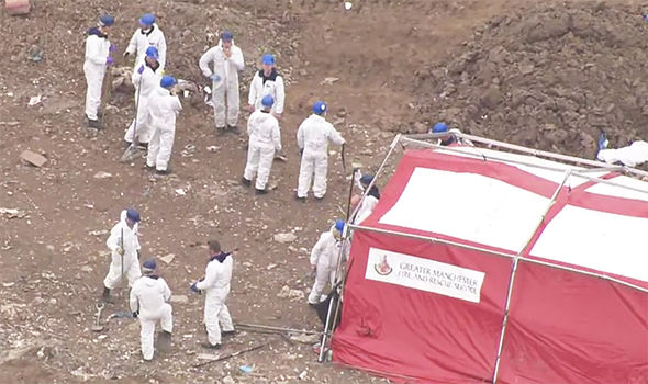Police search landfill site in Bury