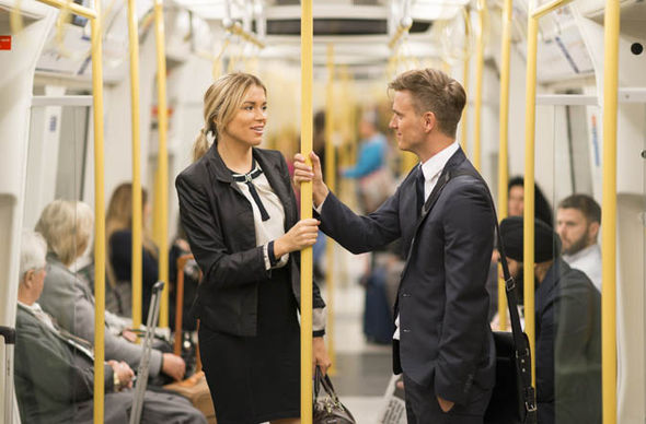 Business people on the tube