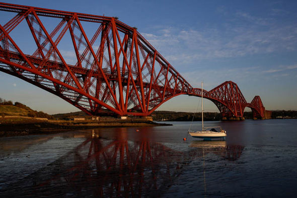 The Forth Bridge in North Queensferry