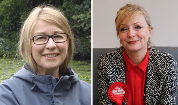 Ann Myatt and Tracy Brabin