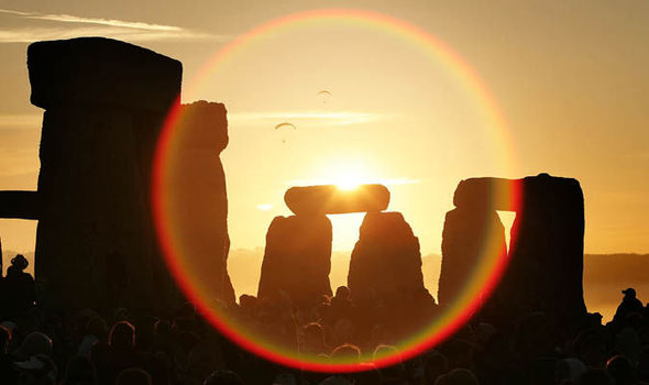 Summer Solstice Sunset At Stonehenge