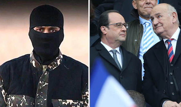 Francois Hollande at match