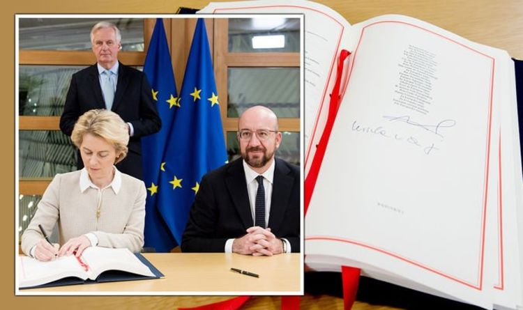 They left! Historical moment EU leaders sign Brexit agreement as UK one week from freedom | United Kingdom | news