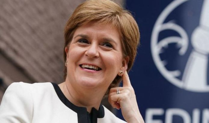 Didn't beat us, though! Bitter Sturgeon cannot resist swipe at England after Germany win