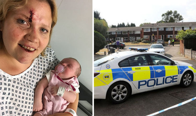 PICTURED: Mother injured in carjacking as her baby sat in backseat - police hunt suspects