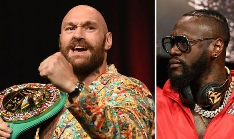 Tyson Fury 'would have nutted' Deontay Wilder as face-off hastily scrapped in fear of ruck