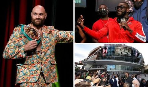 Tyson Fury issues sickening warning to Deontay Wilder's wife after weighing in for trilogy