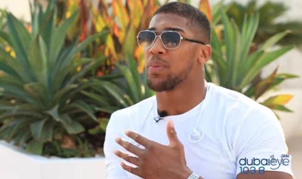 Anthony Joshua speaks to Dubai Eye 103.8
