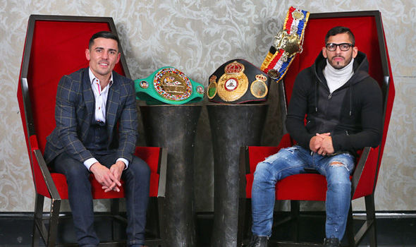 Boxer Anthony Crolla and Jorge Linares