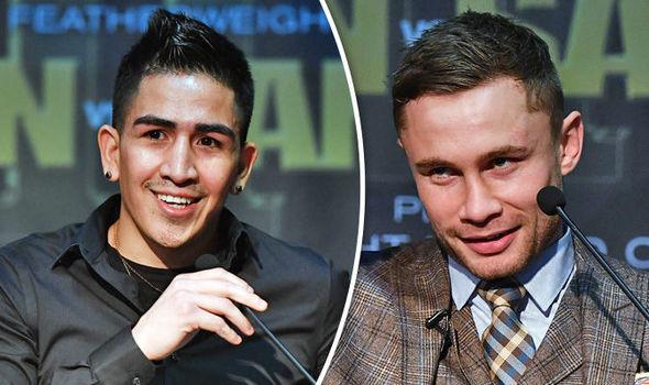 Boxers Carl Frampton and Leo Santa Cruz
