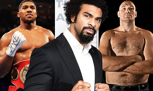 David Haye and Tyson Fury heavyweight boxers