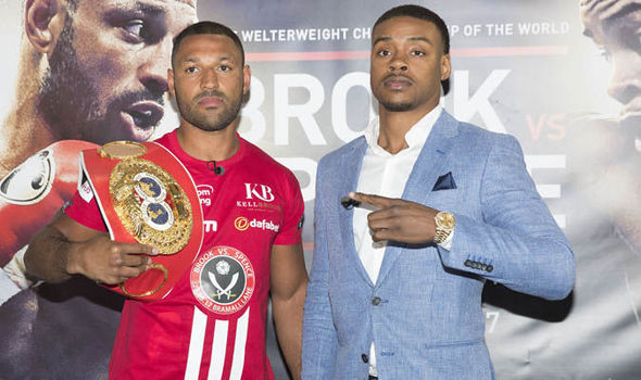 Kell Brook and Errol Spence went face-to-face in today's press conference