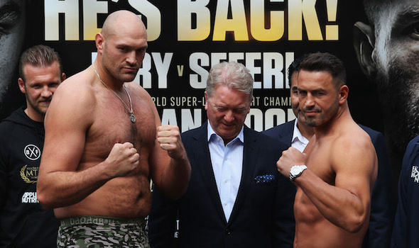 Tyson Fury and Sefer Seferi