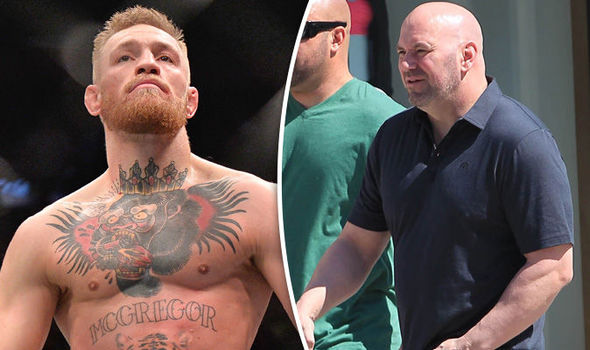 UFC star Conor McGregor and supremo Dana White