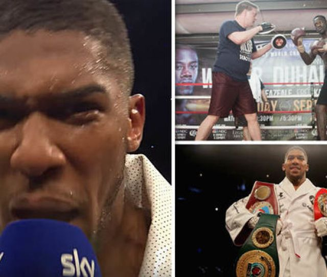 Anthony Joshua Screamign Getty Anthony Joshua Called Out Deontay Wilder